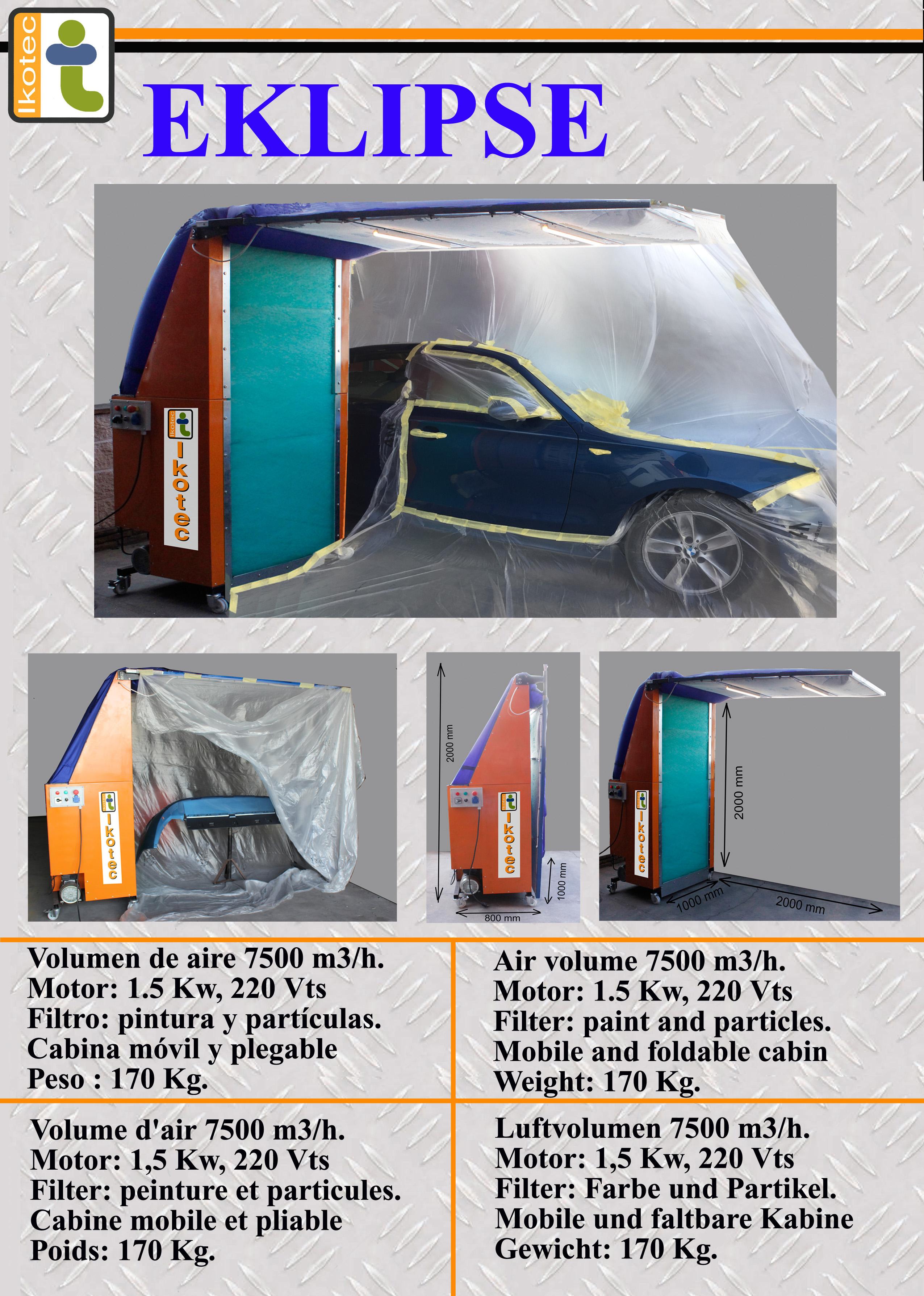 cabina de pintura móvil